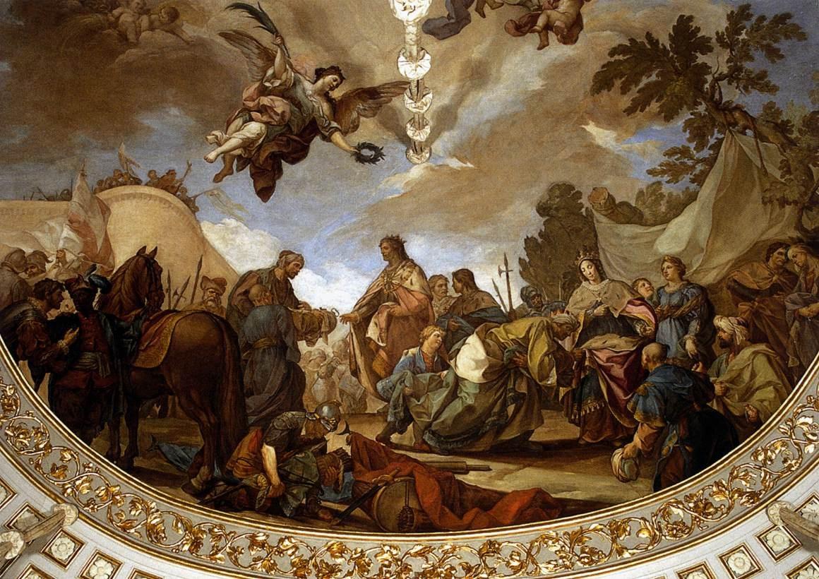 Boabdil przekazuje klucze Grenady monarchom katolickim Izabeli Kastylijskiej i Ferdynandowi Aragońskiemu. Francisco Bayeu.