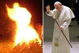 Antypapież Jan Paweł II w ogniu