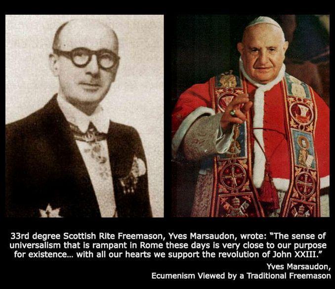 "Masoni Marsaudon i Roncalli - pseudo ""papież"" Jan XXIII"