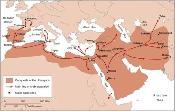 Podboje arabskie w latach 632-732