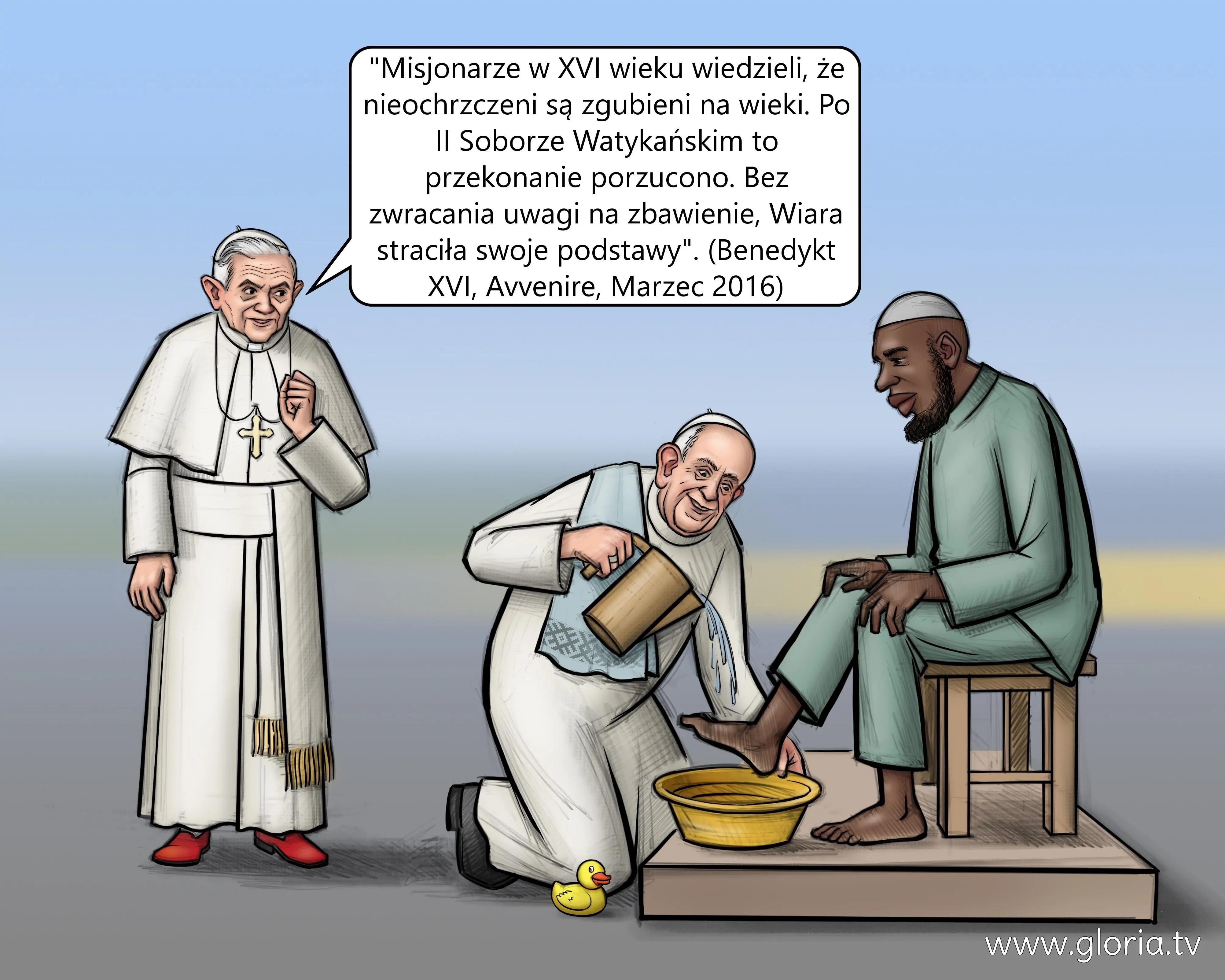 Pseudopapież apostata Bergoglio umywa nogi islamiście