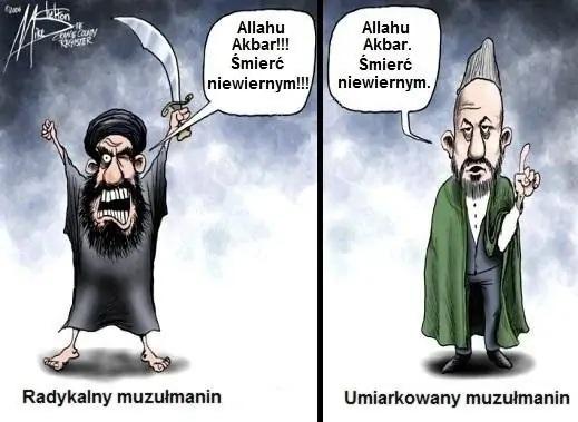 Radykalny i umiarkowany muzułmanin