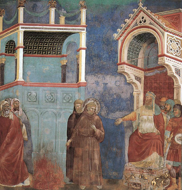 Św. Franciszek z Asyżu nawraca sułtana Egiptu