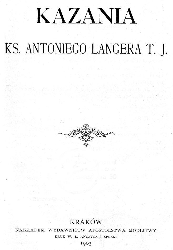 Znalezione obrazy dla zapytania KS. ANTONI LANGER SI: KAZANIE NA IV. NIEDZIELĘ ADWENTU